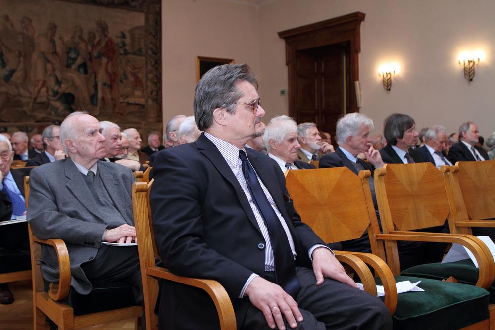 Lanckorońskich Jakub Borawski jako gość na uroczystym posiedzeniu naukowym Polskiej Akademii Umiejętności w Krakowie