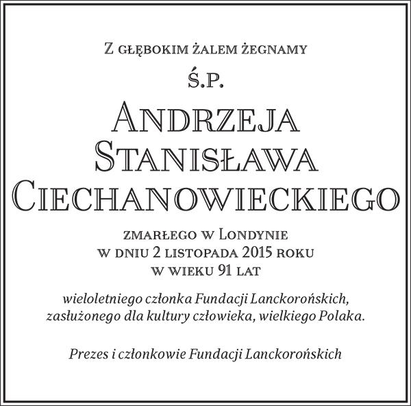 Ś.P. Andrzej Stanisław Ciechanowski